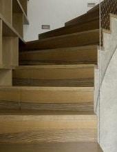Escalier beton avec bois