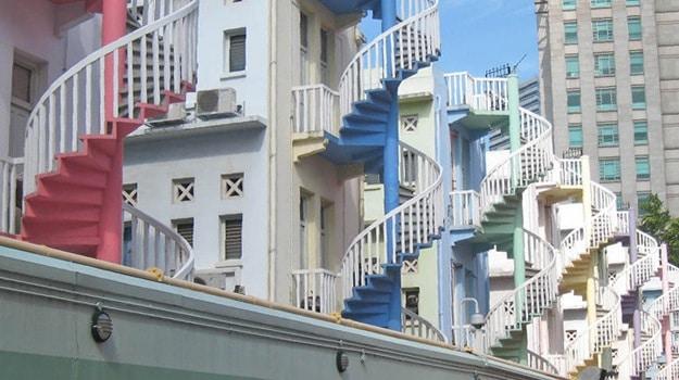 Des escaliers colimaçon