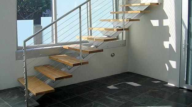 Escalier de meunier ouvert