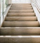 Revêtement d'escalier en pierre de taille