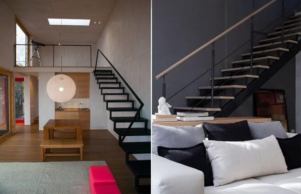 Des escaliers en acier laqués en noir