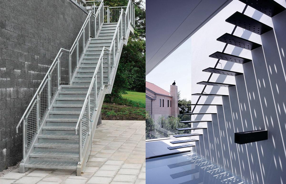 Escaliers extérieurs metalliques