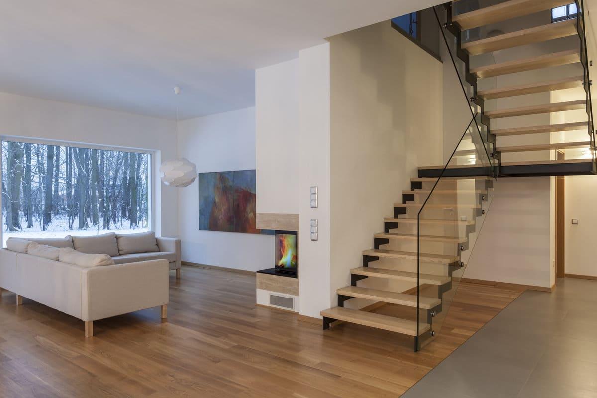 exemple d'escalier hévéa