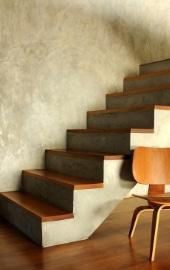 habillage escalier bois massif